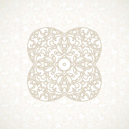 pattern vintage: Vector vintage pattern in Eastern style. Ornate element for design. Ornamental pattern for wedding invitations, greeting cards. Traditional beige decor. Mandala.