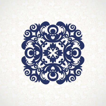 verschnörkelt: Vector Vintage-Muster im viktorianischen Stil in Form eines Kreises. Aufwändige Element für Design. Ornamental Muster für Hochzeitseinladungen, Grußkarten. Traditionelle Kontrast Dekor. Mandala.