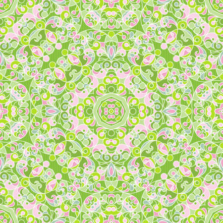 arab spring: Vector seamless pattern with pastel ornament. Vintage element for design in Eastern style. Ornamental lace tracery. Ornate floral decor for wallpaper. Endless texture. Spring pattern fill.