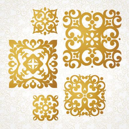 디자인 템플릿 정제 벡터 모노그램의 집합입니다. 로고 디자인, 텍스트에 대 한 장소 우아한 요소입니다. 결혼식 초대장 및 인사말 카드에 대 한 장식