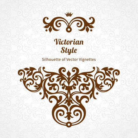 scroll work: Vector lace pattern in Victorian style on scroll work background. Ornate element for design. Place for text. Ornament for wedding invitations, birthday and greeting cards. Contrast decor.