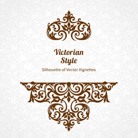 scrolls: Vector lace pattern in Victorian style on scroll work background. Ornate element for design. Place for text. Ornament for wedding invitations, birthday and greeting cards. Contrast decor.