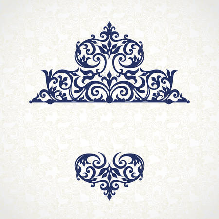 lace vector: Vector lace pattern in Victorian style on scroll work background. Ornate element for design. Place for text. Ornament for wedding invitations, birthday and greeting cards, decor for valentines day.