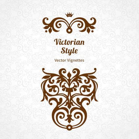 victorian: Vector lace pattern in Victorian style on scroll work background. Ornate element for design. Place for text. Ornament for wedding invitations, birthday and greeting cards. Contrast decor.