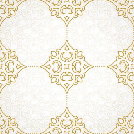 elementos: Modelo inconsútil del vector con el ornamento de oro. Elemento para el diseño vintage en estilo victoriano. Tracería ornamental de encaje. Decoración floral adornado por un fondo de pantalla. Textura sin fin. Relleno de patrón de luz.