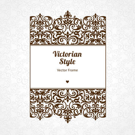 black borders: Vector decorative frame in Victorian style. Elegant element for design template, place for text. Black floral border. Lace decor for birthday and greeting card, wedding invitation, certificate.