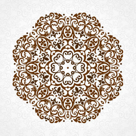 motives: Vector vintage pattern in Victorian style. Ornate floral element for design. Ornament pattern for wedding invitations, birthday and greeting cards. Traditional black decor. Mandala.