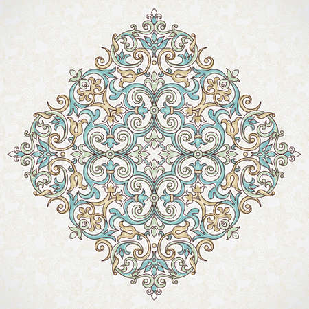 pattern vintage: Vector vintage pattern in Victorian style. Ornate floral element for design. Ornament pattern for wedding invitations, birthday and greeting cards. Traditional pastel decor. Mandala.