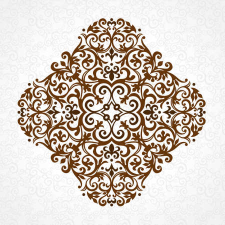 vignettes: Vector vintage pattern in Victorian style. Ornate floral element for design. Ornament pattern for wedding invitations, birthday and greeting cards. Traditional black decor. Mandala.