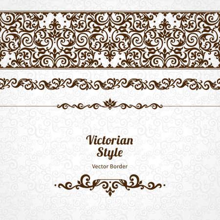 friso: Vector adornado frontera transparente en estilo victoriano. Elemento magnífico para el diseño, el lugar de texto. Vintage patrón ornamental para las invitaciones de boda, cumpleaños y tarjetas de felicitación. Decoración negro tradicional. Vectores