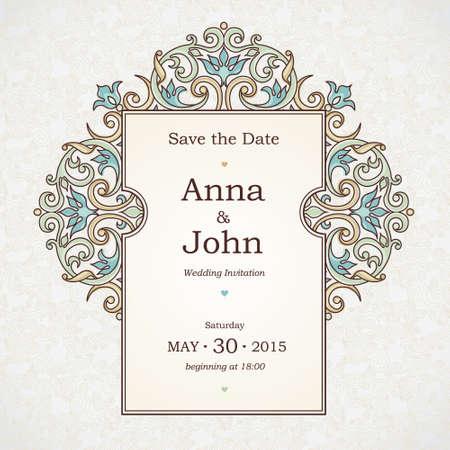 bordes decorativos: Vector marco decorativo en estilo victoriano. Elemento de plantilla de diseño elegante, el lugar de texto. Frontera floral en colores pastel. Decoración de encaje para el cumpleaños y tarjeta de felicitación, invitación de la boda, gracias mensaje.