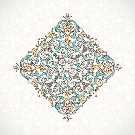 vintage patterns: Vector vintage pattern in Victorian style. Ornate floral element for design. Ornament pattern for wedding invitations, birthday and greeting cards. Traditional outline decor. Square illustration.