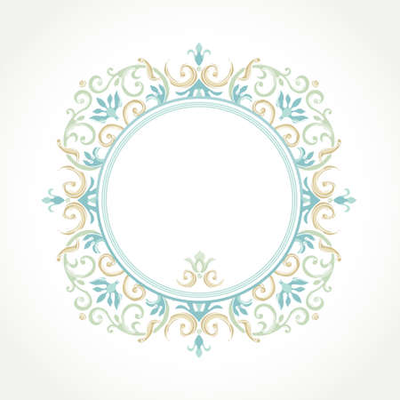 vignettes: Vector decorative frame in Victorian style. Elegant element for design template, place for text. Pastel floral border. Lace decor for birthday and greeting card, wedding invitation, Thank you message.