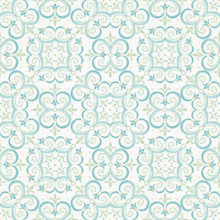 tracery: Vector seamless pattern with pastel ornament. Vintage element for design in Eastern style. Ornamental lace tracery. Ornate floral decor for wallpaper. Endless texture. Pastel pattern fill.