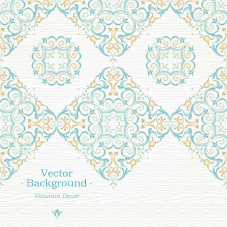 pastel backgrounds: Vector ornate seamless border in Eastern style. Gorgeous element for design, place for text. Ornamental vintage pattern for wedding invitations, birthday and greeting cards. Traditional pastel decor.