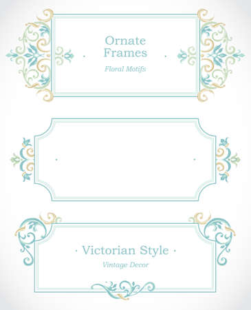 elegant template: Vector decorative frame in Victorian style. Elegant element for design template, place for text. Pastel floral border. Lace decor for birthday and greeting card, wedding invitation, Thank you message.
