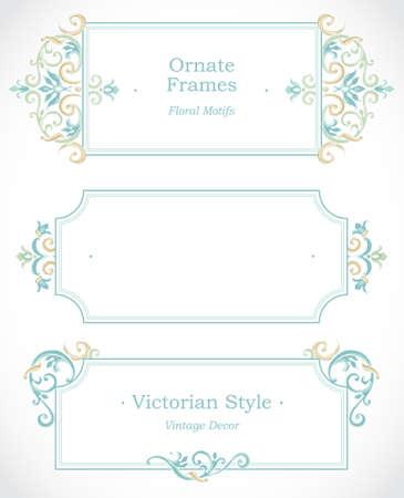 friso: Vector marco decorativo en estilo victoriano. Elemento de plantilla de diseño elegante, el lugar de texto. Frontera floral en colores pastel. Decoración de encaje para el cumpleaños y tarjeta de felicitación, invitación de la boda, gracias mensaje.