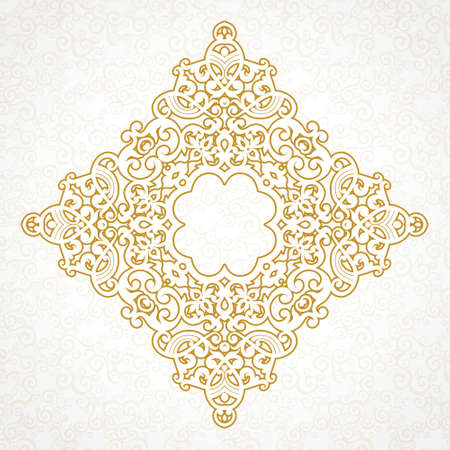 scroll design: Vector vintage pattern in Victorian style. Ornate floral element for design. Ornament pattern for wedding invitations, birthday and greeting cards. Traditional outline decor. Square illustration.