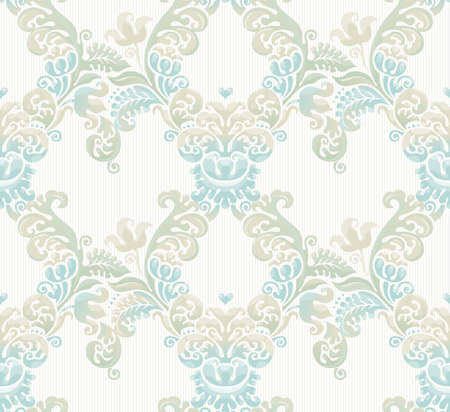 vintage design: Vector seamless pattern with pastel ornament. Vintage element for design in Victorian style. Ornamental lace tracery. Ornate floral decor for wallpaper. Endless texture. Pastel pattern fill.