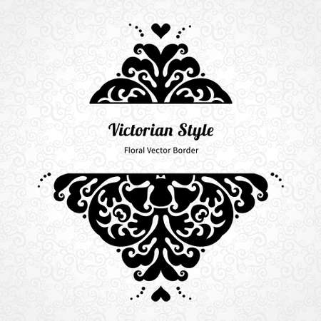 scroll design: Vector lace pattern in Victorian style on scroll work background. Ornate element for design. Place for text. Ornament for wedding invitations, birthday and greeting cards. Contrast decor.