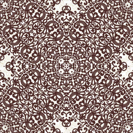 contrast floral: Vector seamless pattern with black ornament. Vintage element for design in Victorian style. Ornamental lace tracery. Ornate floral decor for wallpaper. Endless texture. Contrast pattern fill. Illustration