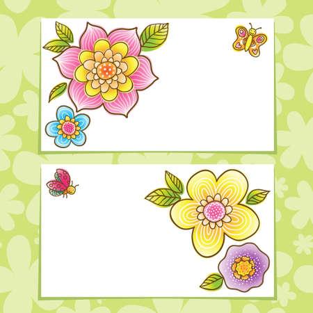 Brillante Patrón Con Flores De Colores, Mariposas Y Libélulas. Lugar ...