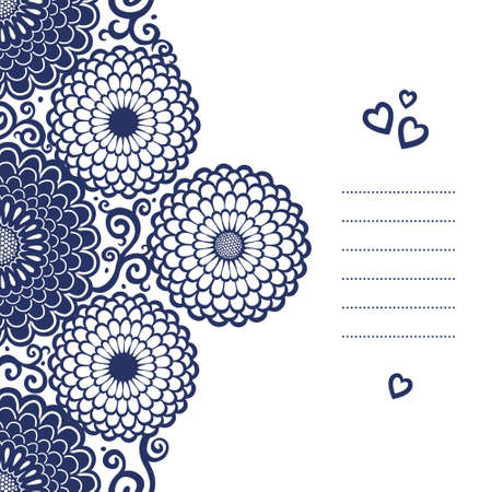 contrast floral: Vintage greeting cards with swirls and floral motifs in east style. Template frame design for retro wedding card. Contrast vector border in classical style. Place for your text. Save the date.