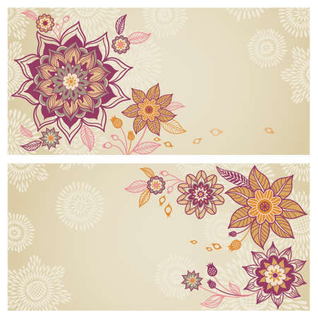 Vintage greeting cards with swirls and floral motifs in east vintage greeting cards with swirls and floral motifs in east royalty free cliparts vectors and stock illustration image 54078178 m4hsunfo