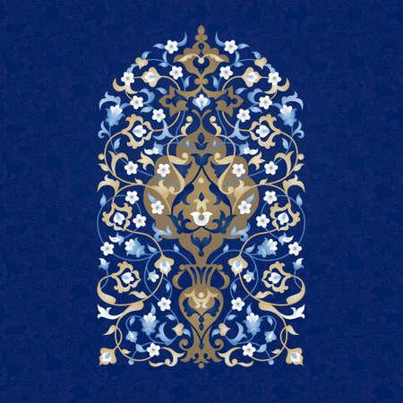 abstrakte muster: Vector Vintage-Muster in Ost-Stil. Aufwändige Blumenelement für Design. Ornamental traditionelle Illustration für Einladungen, Geburtstag und Grußkarten. Helle elegante Bouquet. Illustration