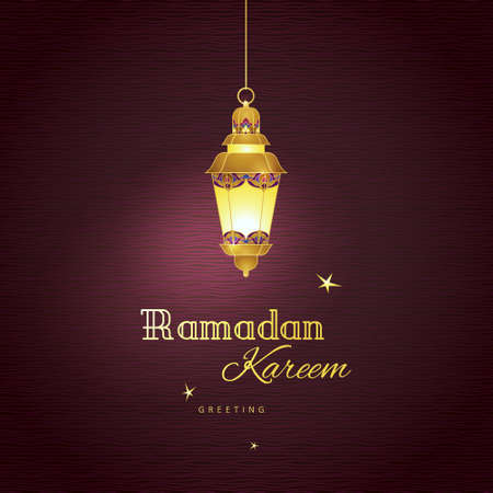 arabic background: Ornate vector vintage lantern for Ramadan wishing. Arabic shining lamps. Golden decor in Eastern style. Islamic background. Template for Ramadan Kareem greeting card, invitation, leaflet, poster.