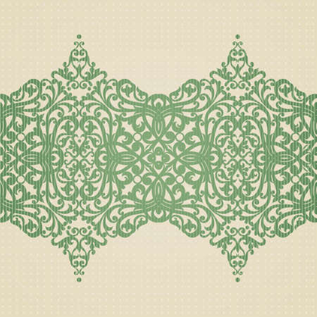 Vector baroque border in Victorian style. Element for design. You can place the text in an empty frame. It can be used for decorating of invitations, greeting cards, decoration for bags and clothes.
