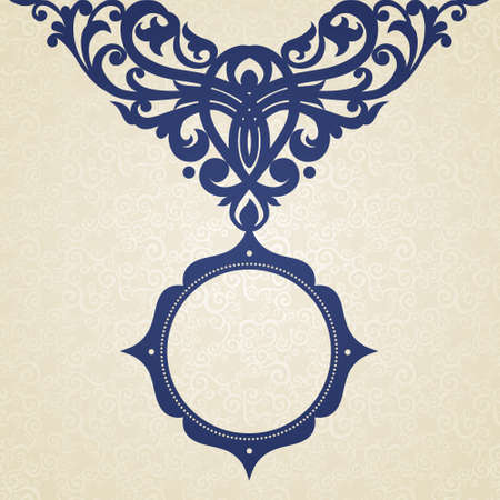 scroll design: Vector baroque frame in Victorian style. Element for design. You can place the text in an empty frame. It can be used for decorating of invitations, greeting cards, decoration for bags and clothes.