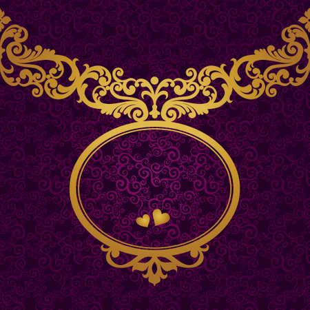 old frame: Vector baroque frame in Victorian style. Element for design. You can place the text in an empty frame. It can be used for decorating of invitations, greeting cards, decoration for bags and clothes.