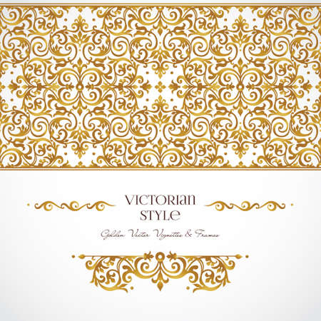 scrollwork: Vector set of golden vignettes and borders for design template. Elements in Victorian style. Luxury floral frames. Ornate decor for invitations, greeting cards, certificate, thank you message. Illustration