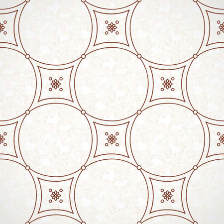 arabesque pattern: Vector seamless pattern with brown ornaments. Vintage element for design in Eastern style. Ornamental lace tracery. Ornate floral decor for wallpaper. Endless vintage texture. Lacy pattern fill.