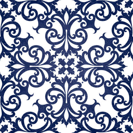 victorian wallpaper: Vector seamless pattern with swirls and floral motifs in retro style. Contrast Victorian background. It can be used for wallpaper, pattern fills, web page background, surface textures.