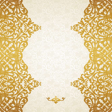 Vector seamless border in Victorian style. Element for design. Ornament  endless pattern. It can be used for decorating of wedding invitations, greeting cards, decoration for bags and clothes.