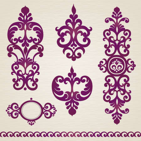 classical style: set with classical ornament in Victorian style.