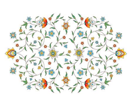 ベクターの要素は、デザイン テンプレートのアラベスク。東部のスタイルで高級髪飾り。ターコイズ ブルーの花のイラスト。招待状、グリーティン