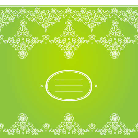 Vector spring floral border in east style. Element for design. Ornamental background. It can be used for decorating of wedding invitations, greeting cards, decoration for bags and clothes.
