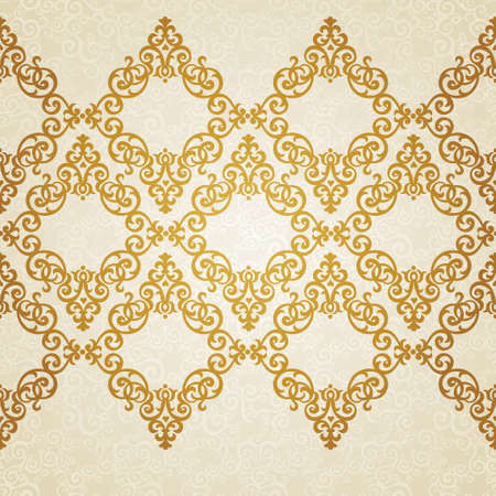 Vector ornate border in Victorian style. Golden floral element for design. Ornamental pattern for wedding invitations and greeting cards. Traditional golden decor. Illustration