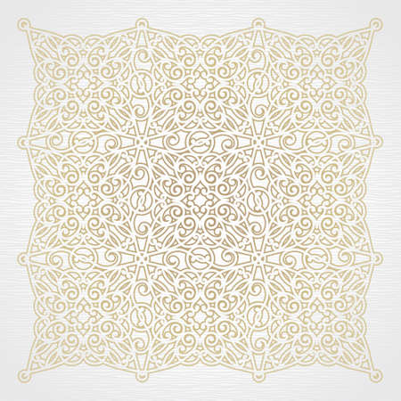 Vector ornate pattern in Victorian style. Floral element for design. Place for text. Ornamental vignette. Traditional decor.