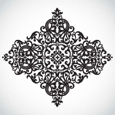 contrast floral: Baroque ornament in Victorian style.