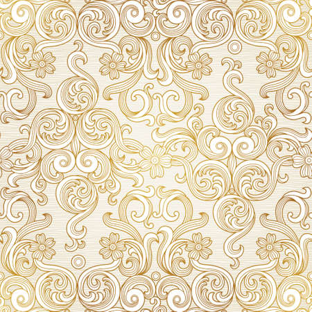 Vector seamless background in Victorian style. Illustration