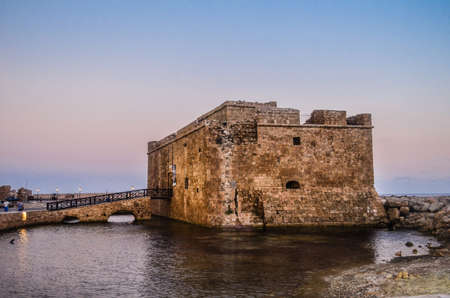 Medieval castle near the meditarean sea