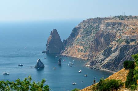 Picturesque scene of an ocen coast and rocks Фото со стока
