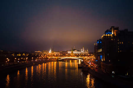 Bright lights of the big city of Moscow