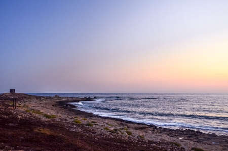 Stunning sunset over the sea in Cyprus