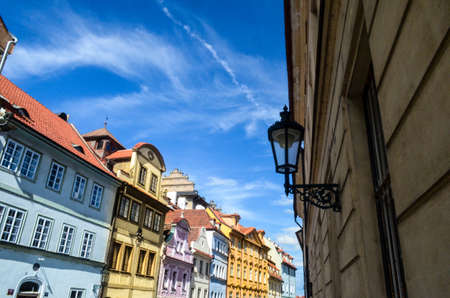 Colorful Buildings with wonderful blue sky in Germany Фото со стока