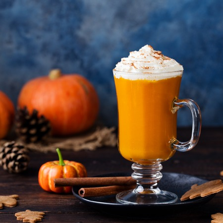 butternut: Pumpkin smoothie, spice latte. Boozy cocktail with whipped cream.